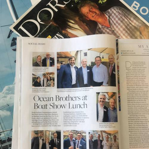 Ocean Brothers at the Poole Harbour Boat Show Lunch