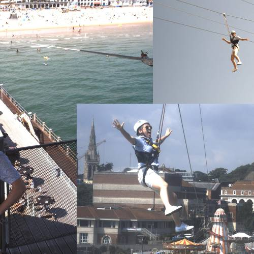 New photo system installed at the top of the PierZip tower on Bournemouth Pier to allow unique 'selfies' of zip wire flights