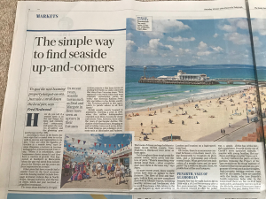 """""""To spot the next booming property hotspot-on-sea"""" Saturday Telegraph Property Section 15th June 2019"""