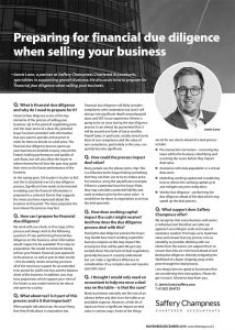 Preparing for financial due diligence when selling your business