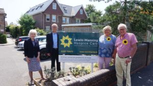 Care South award charity partner Lewis-Manning Hospice Care with £2,000 from the first ever 'Chairman's 2020 Fund'