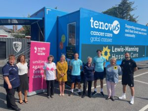 'Walk the Walk' charity enables extension to Lewis-Manning Hospice Care's Mobile Lymphoedema Clinic to support cancer patients, with additional support by AFC Bournemouth