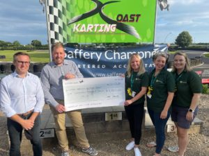 Law firms compete in Go Karting Challenge, hosted by Saffery Champness Chartered Accountants, raising funds for Lewis-Manning Hospice Care